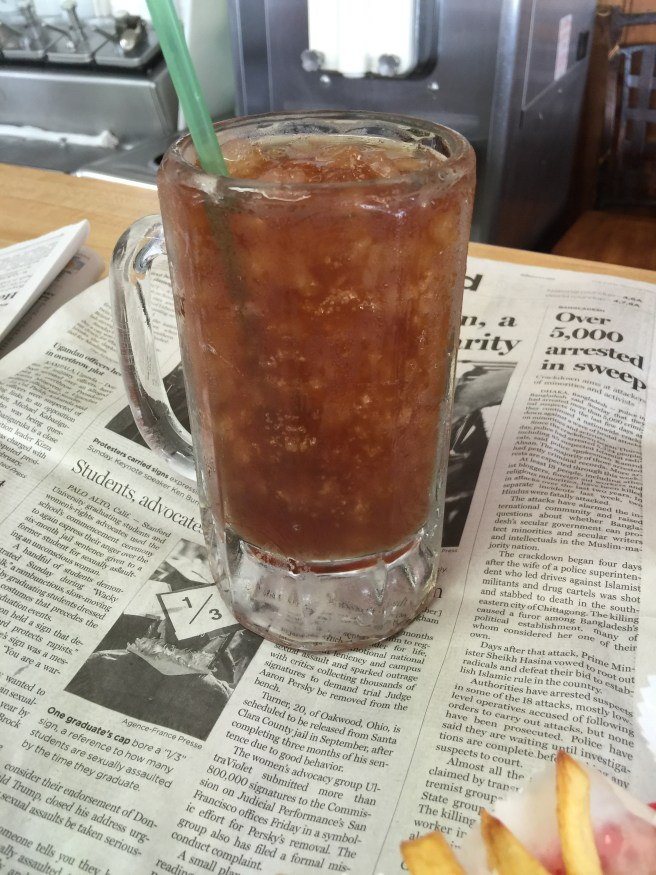 ice tea in a frosty mug