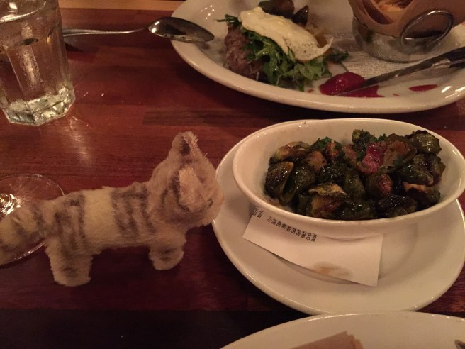 Frankie liked the pancetta in the brussels
