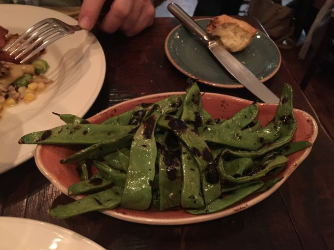 Grilled Romano beans