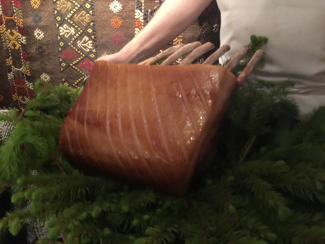 pork roast presented