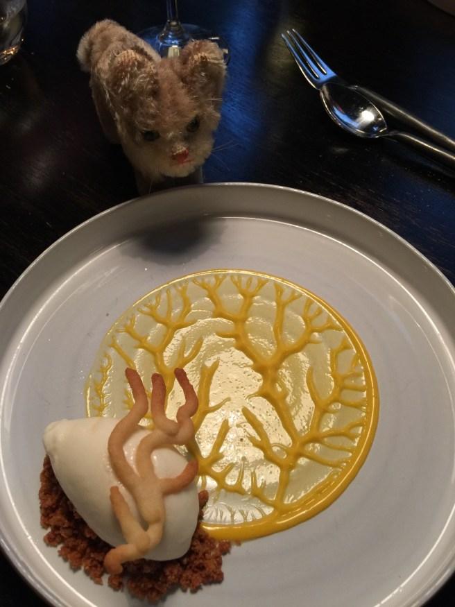 Frankie studied the dessert