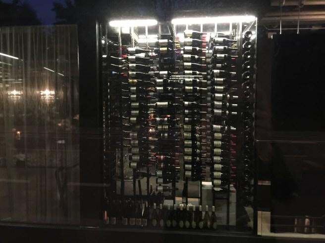 see through wine storage