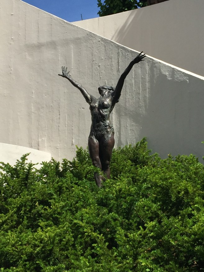 statue on the side
