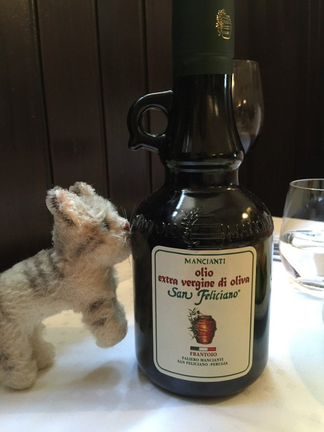 Frankie checked out the olive oil