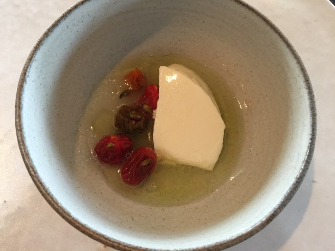 Dried tomatoes and fresh milk curd