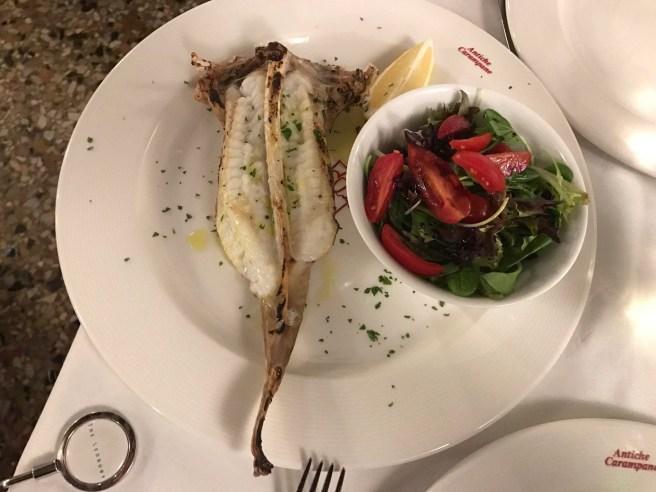 Wild grilled Monkfish wtih little salad on side
