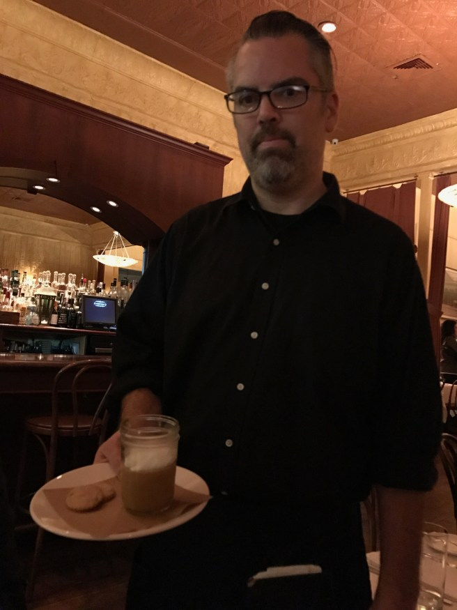 Our waiter Darren
