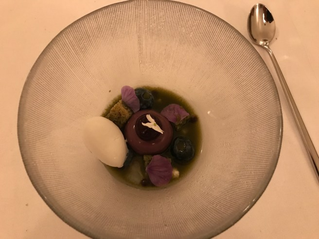 bluebery and violet with coconut sorbet