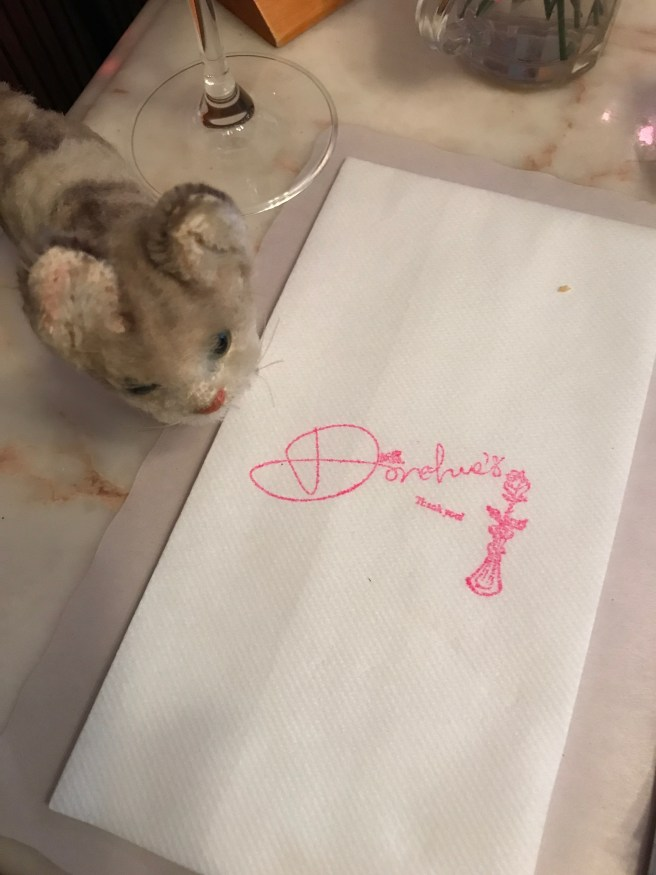 Frankie liked the stamped napkins