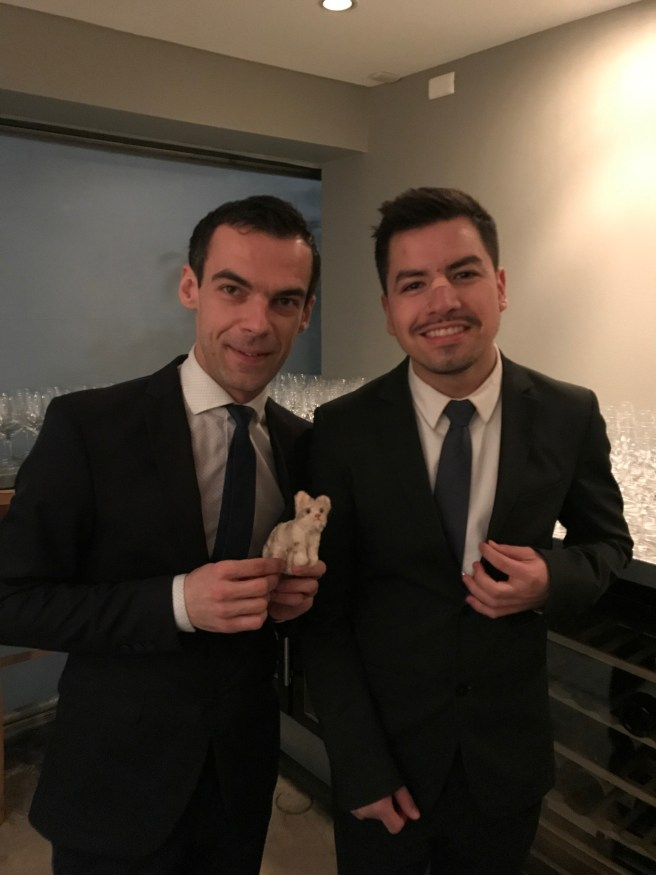 Fun pair: Dragan Celíc, sommelier, Israel, somm assistant, with Frankie