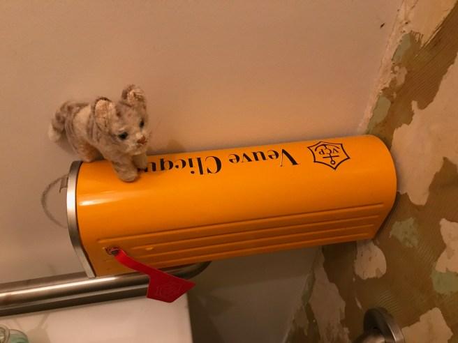 Frankie found a champagne mailbox