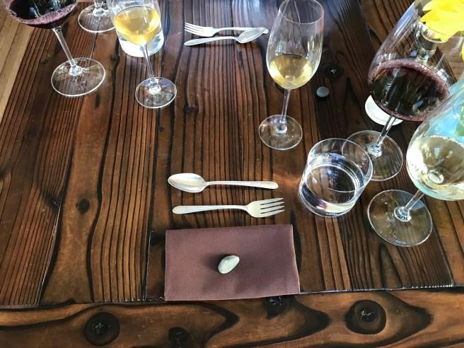 inside table set up