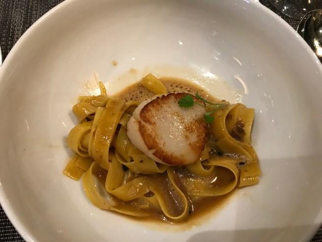 pasta and scallop