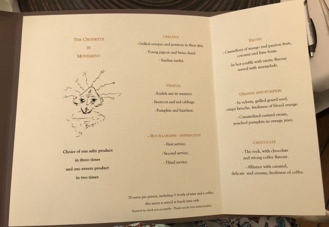 lunch special menu