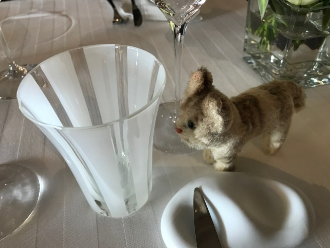 Frankie liked the water glasses