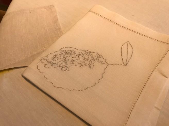 embroidered dessert napkins