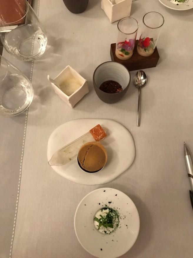 matcha tea, lemon and white chocolate, almond, papaya, coconut