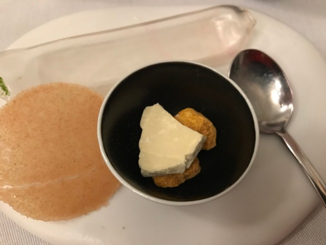 Milk with ginger flower