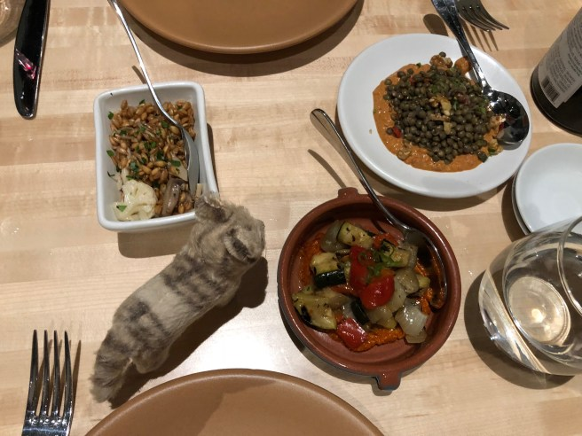 """Frankie looked over the selection of """"Meze"""" plates"""