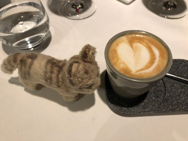 Frankie admired the coffee
