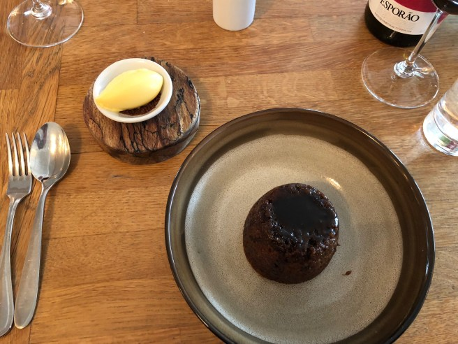 Steamed Medjool Date Pudding, Black Treacle, Clementine Ice Cream