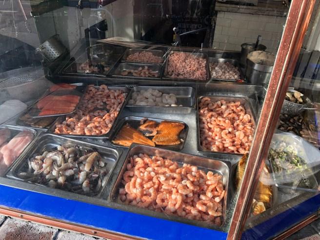 window of seafood
