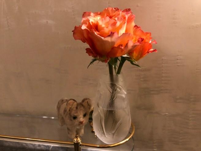 Frankie likes flowers