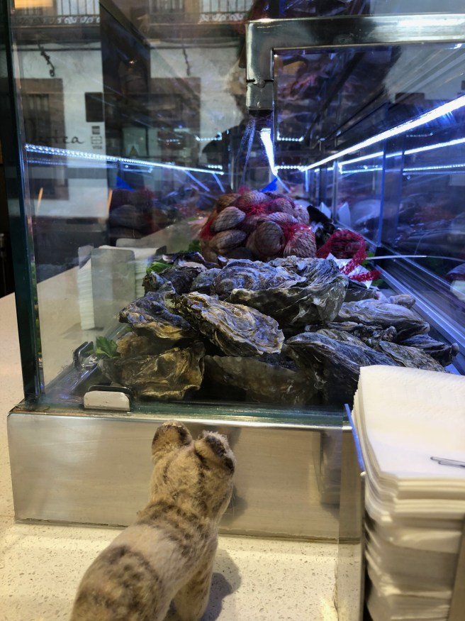 Frankie looked over the fresh seafood