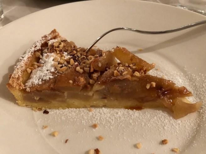 Caramelized pear tart