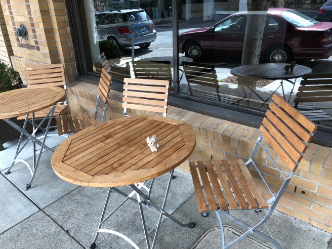 Frankie sampled the outdoor seating