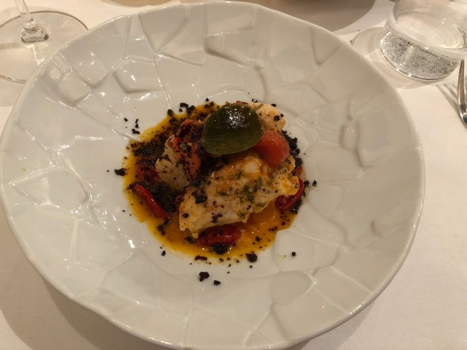 Grilled filet of scorpion fish