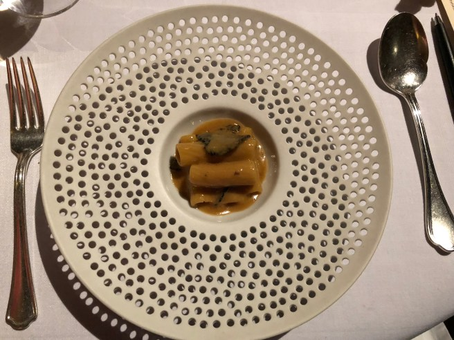 Ridged pasta with foie gras, black truffle and Marsala
