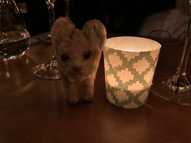 Frankie enjoys candlelight