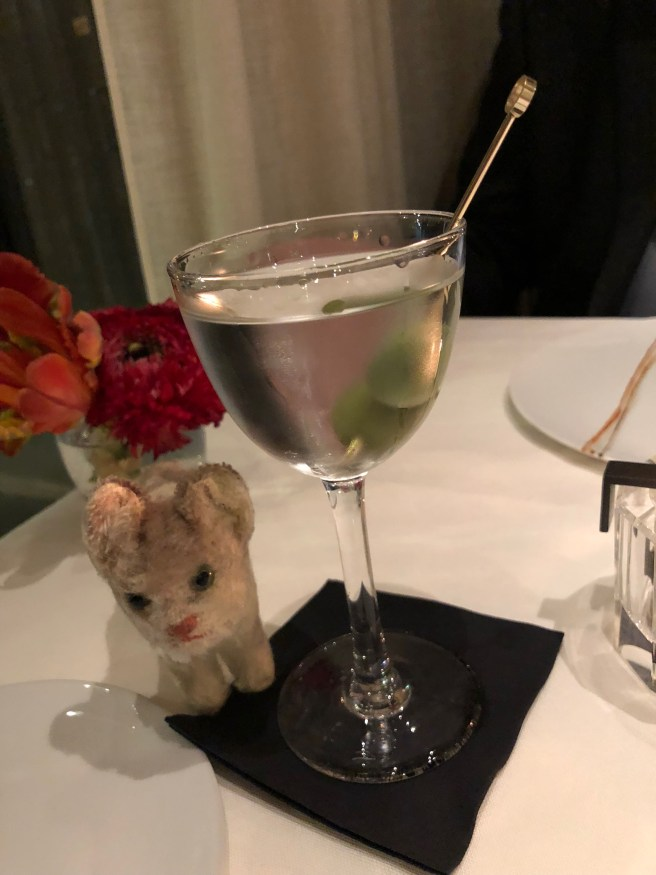 Frankie wanted to try the martini