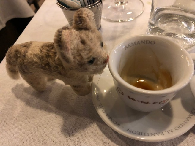 Frankie found the restaurant's name in the coffee cup