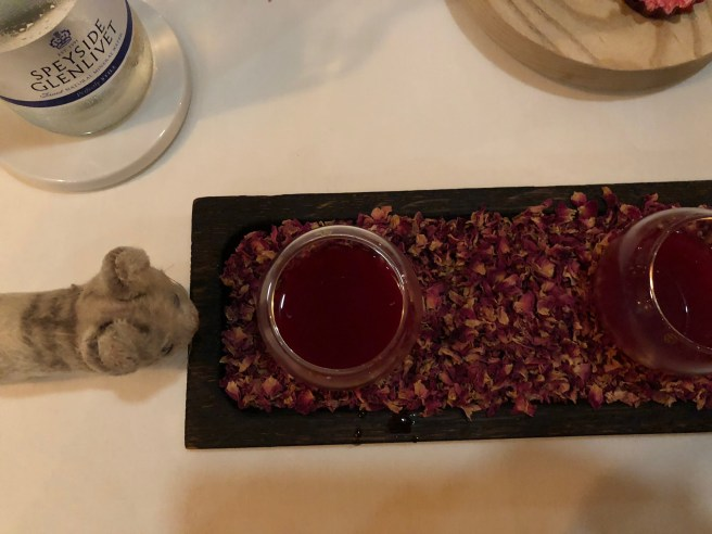 Frankie presented the fermented beetroot and apple