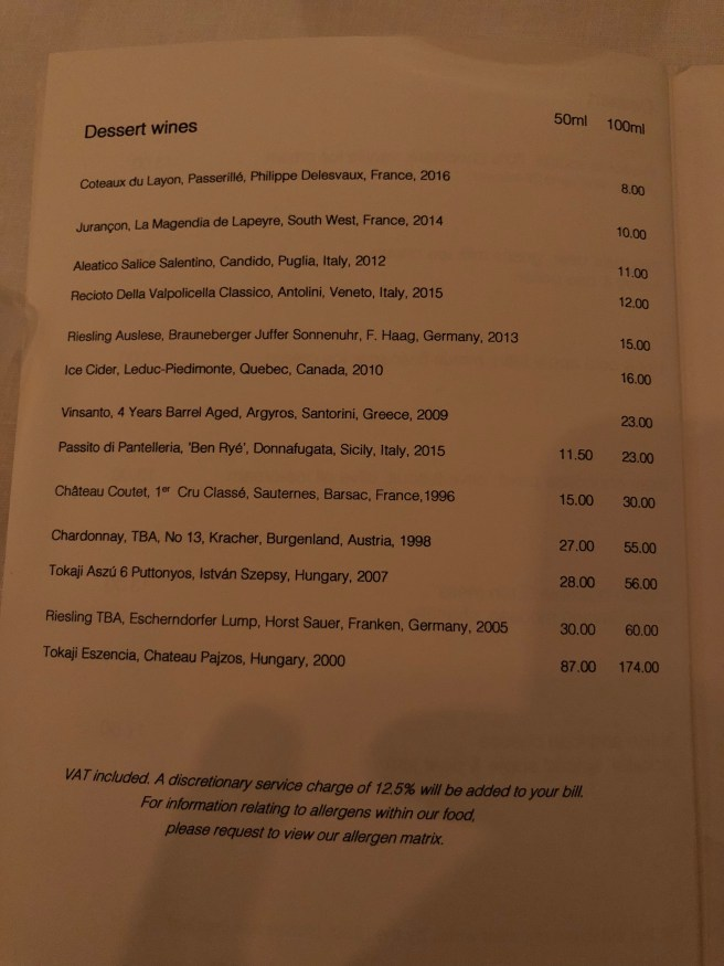 desset wine menu