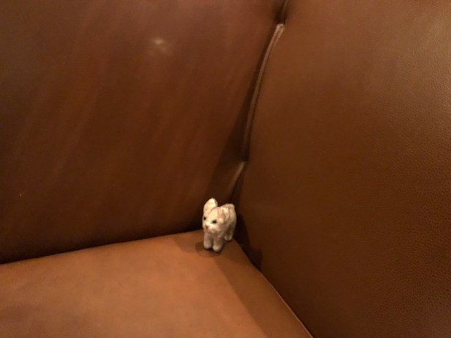 Frankie tried out the bench seating