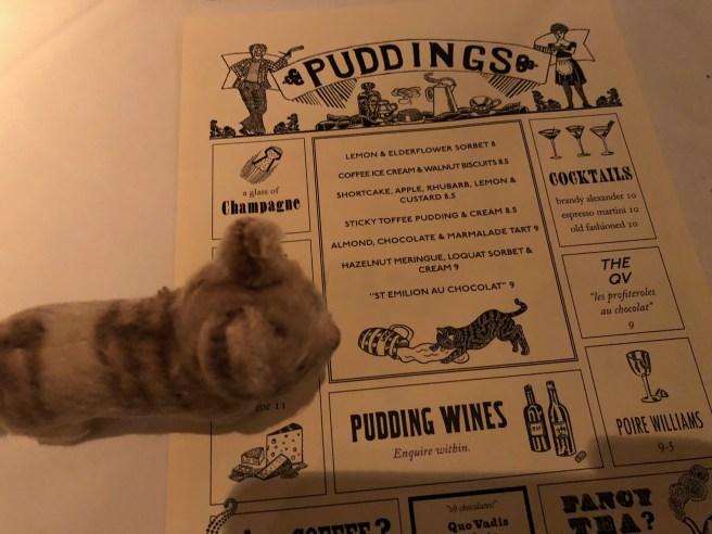 Frankie found a cat on the menu