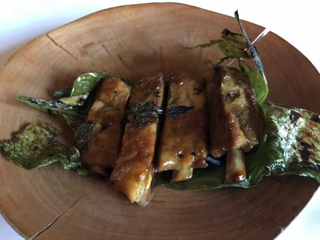 Pork ribs in Turmeric leaves