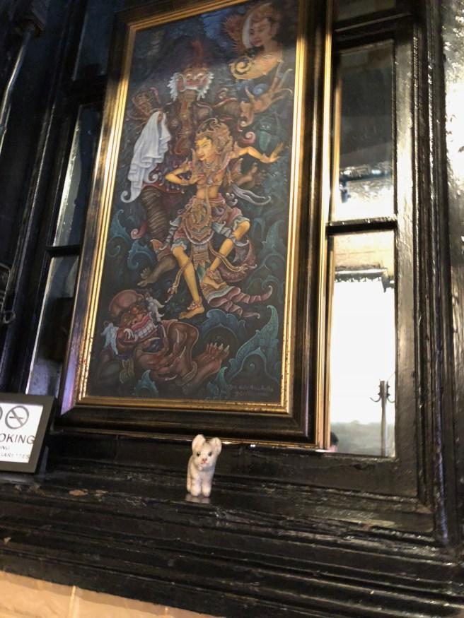 Frankie enjoyed the art