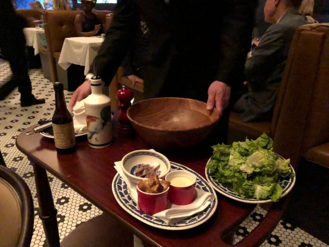 Table side salad preparations