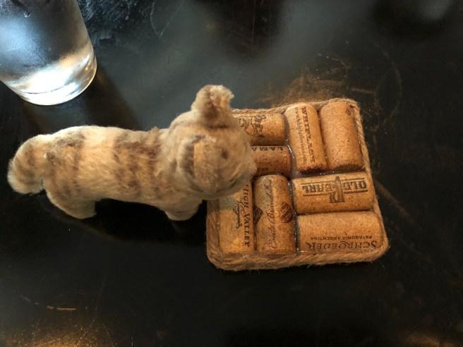 Frankie found a cork holder
