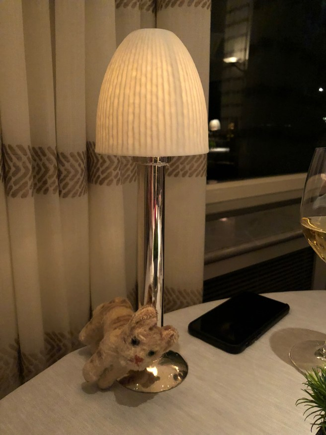 Frankie liked the little table lamp