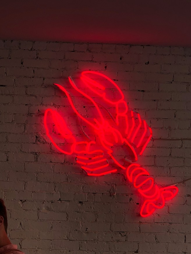 lobster in neon