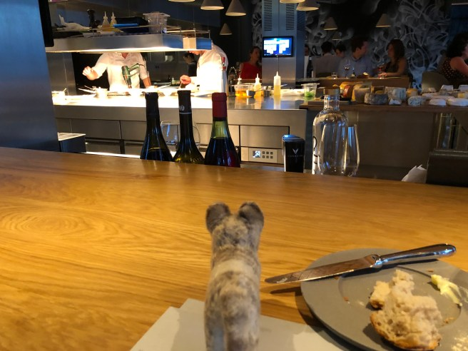 Frankie watched the kitchen action