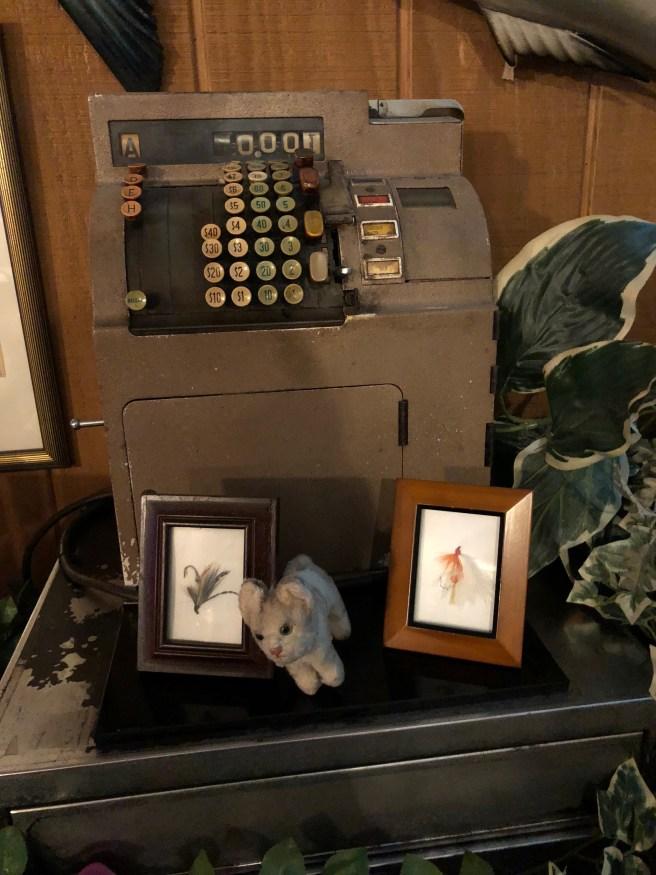 Frankie found an old cash register