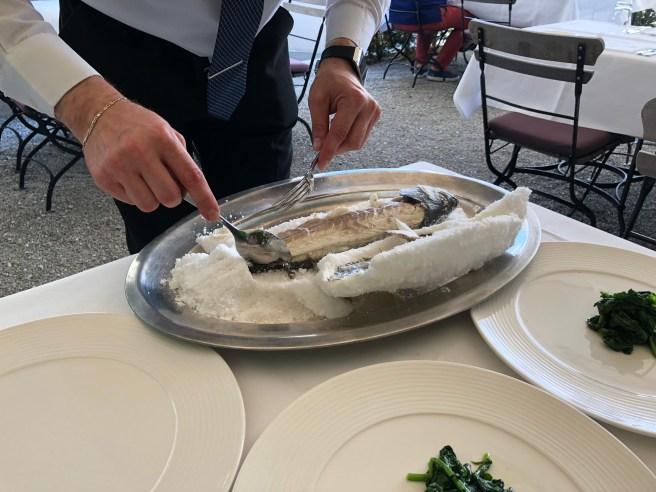 serving fish