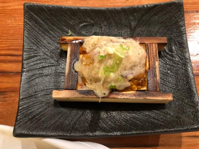 Yaki Uni - Grilled sea urchin with mascarpone and enoki mushrooms