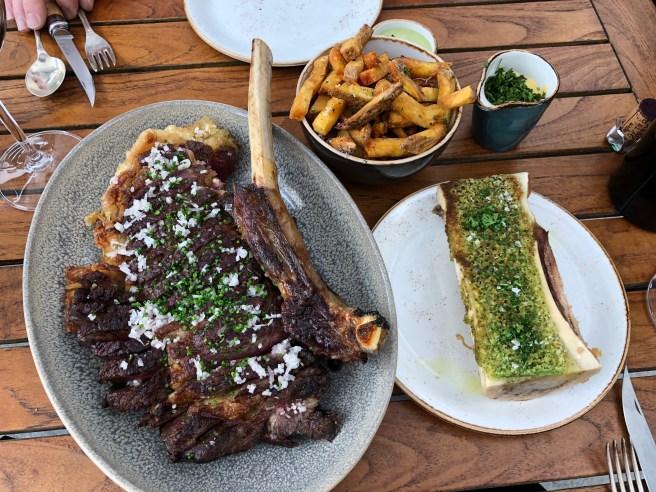 meat fried and bone marrow